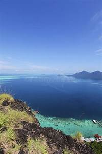 Malaysia, Sabah, Borneo, Scenic, View, Of, Tun, Sakaran, Marine