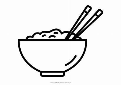 Coloring Rice Arroz Colorear Riso Bol Colorare
