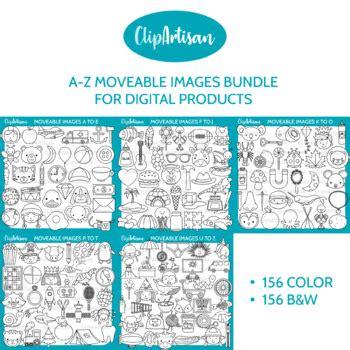 movable images alphabet clip art bundle  clipartisan tpt