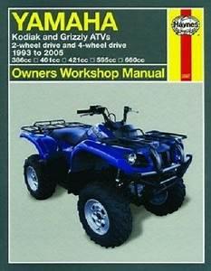 Haynes Service Manual 2567 Yamaha Yfm600f Grizzly 600 4x4 1998 1999 2000 2001