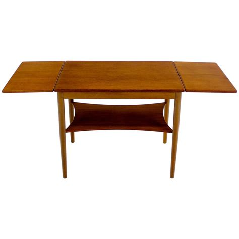 danish modern drop leaf table danish modern teak oak drop leaf table designed by borge