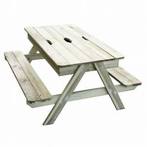 Table Enfant Exterieur : table enfant avec bac sable picsand ~ Melissatoandfro.com Idées de Décoration