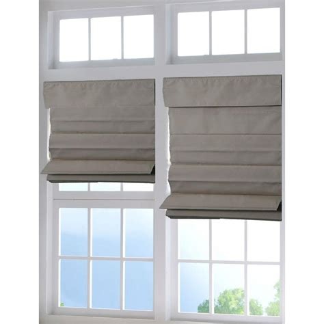 home depot l shades lift window treatment cordless fabric