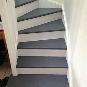 peindre un escalier en gris avec peindre escalier en bois With repeindre un escalier en blanc