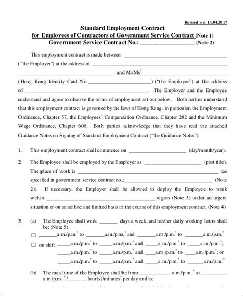 employment contract template 8 employment contract templates free sle exle format free premium templates