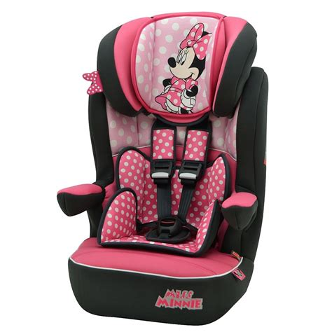 siege minnie disney minnie mouse pink dots imax car seat 1 2 3