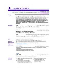 best resume templates free best resume formats free cv exle
