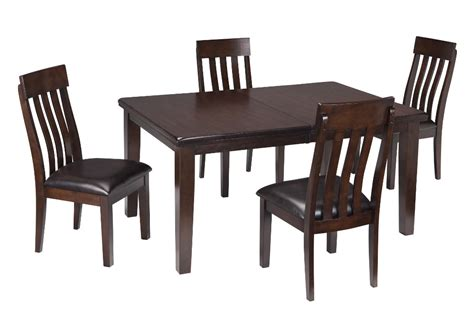 rectangle table with chairs ramos furniture haddigan dark brown rectangle dining room