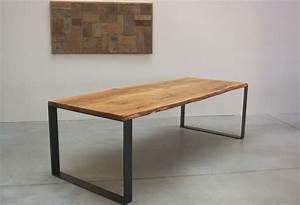 Holztisch Massiv Gebraucht : die besten 17 ideen zu tischgestell stahl auf pinterest tischbeine stahl eichentisch und ~ Markanthonyermac.com Haus und Dekorationen
