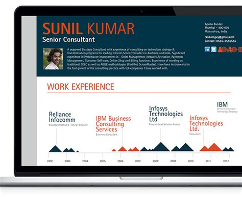 interactive resume builder on behance