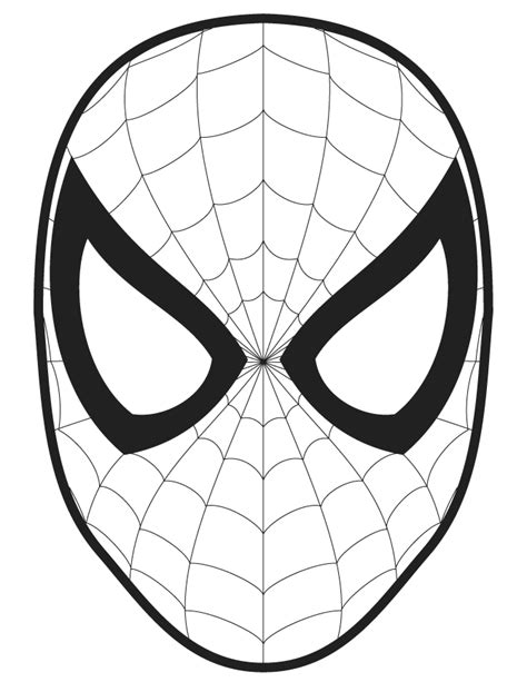 spider man face template cut  coloring page