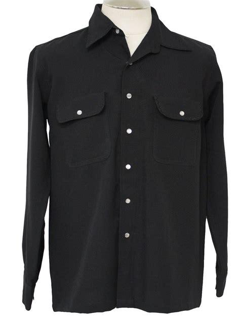 vintage western shirt   label mens black