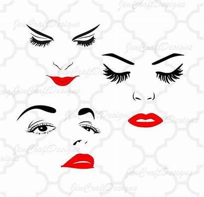Face Clipart Eye Woman Eyelashes Svg Lip