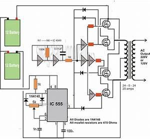 Inverter Circuit 500va 400va 200va 150va 100va Transformerless Inverter