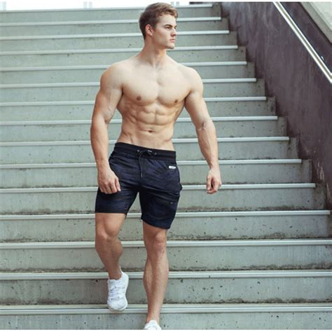 new fashion men sporting beaching shorts trousers cotton bodybuilding sweatpants fitness short