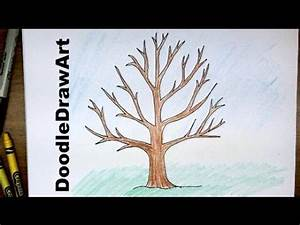 How To Draw A Tree Without Leaves - Easy Drawing Tutorial ...