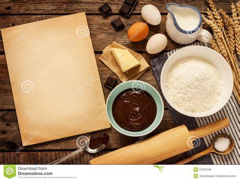 baking chocolate cake ingredients  blank paper