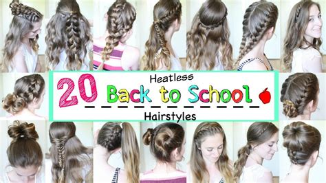 20 Back To School Heatless Hairstyles