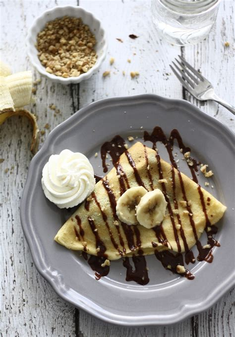 nutella banana crepes spoonful  butter