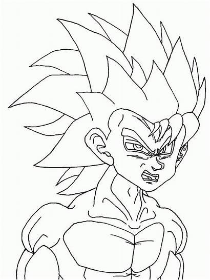 Coloring Dragon Ball Pages Goku Printable Kid
