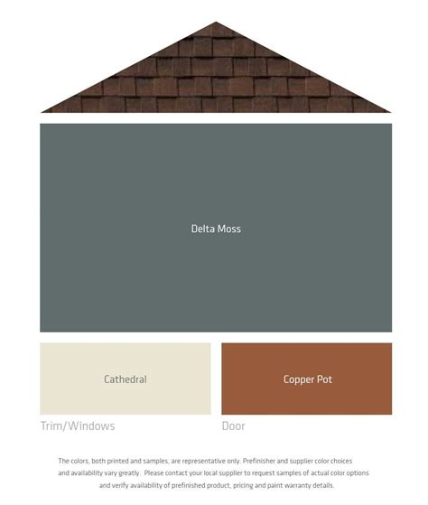 exterior color palettes for a brown roof this one is
