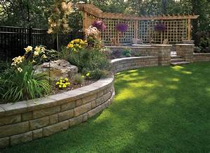 Retaining walls and raised flower bed ideas the home