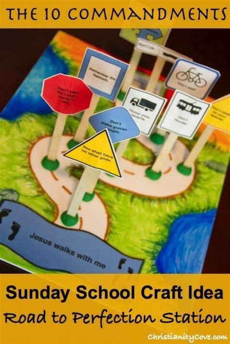 10 commandments craft road to perfection station 10 | perfectionstation pin