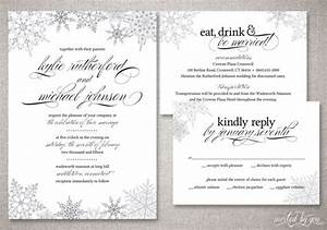 winter snowflake quotkyliequot wedding invitation suite With vistaprint snowflake wedding invitations