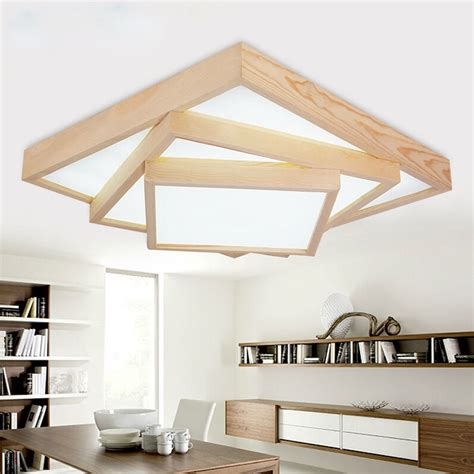 modern oak living room led ceiling lights japanese