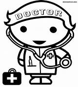 Doctor Coloring Pages Bag Drawing Clipart Library Nurse Profession Clip Coloringhome sketch template