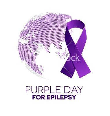 Epilepsy Awareness Purple Ribbon