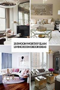 25, Swoon-worthy, Glam, Living, Room, Decor, Ideas