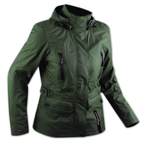 green motorcycle jacket ce armour city scooter ladies textile motorcycle touring