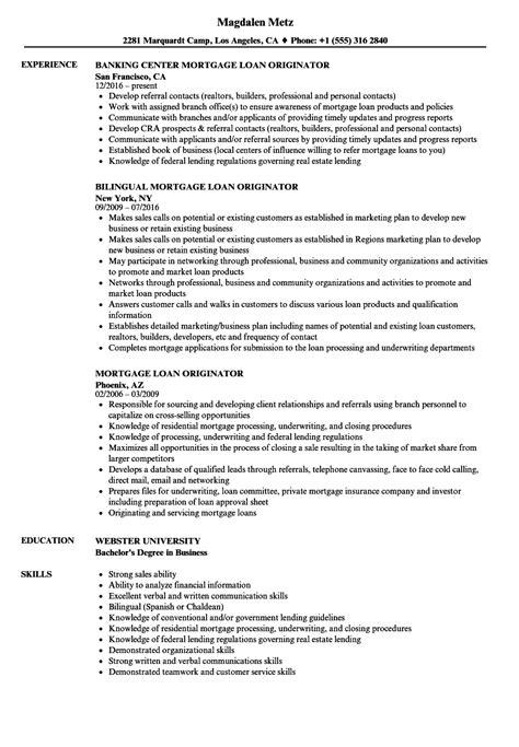 Loan Officer Resume by Loan Officer Resume Sles Bijeefopijburg Nl