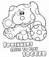 Sprinkles Coloring Pages Clues Nick Jr Nickjr Blues Soccer sketch template