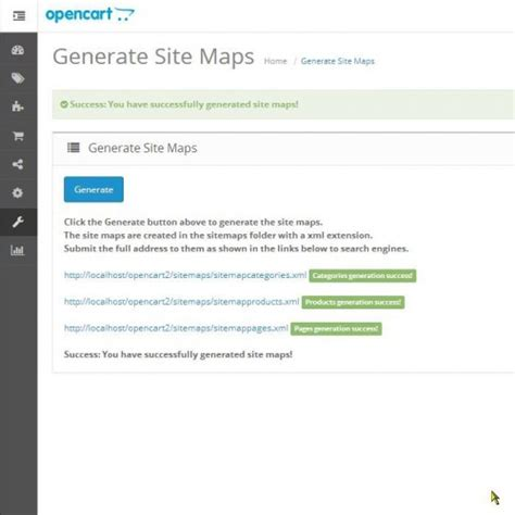 Opencart Google Site Maps Generator Vqmod
