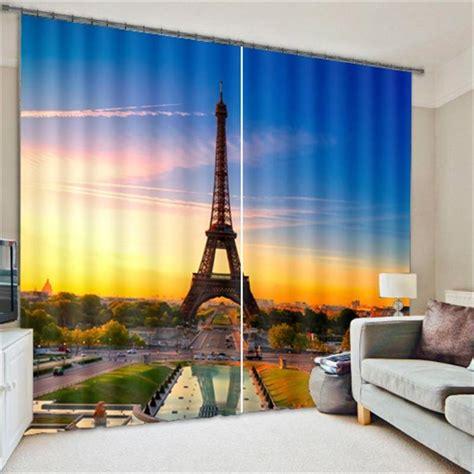 modern designs 3d city scenery curtains home sun shade