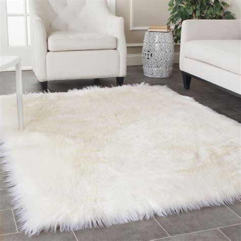 faux fur area white fluffy rugs roselawnlutheran