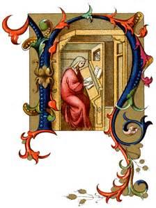 Medieval Illuminated Letter N