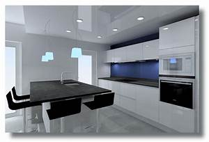 avis devis cuisine armony sigma laque blanc 53 messages With cuisine noir et blanc laque