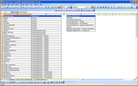 excel spreadsheet template  expenses excel