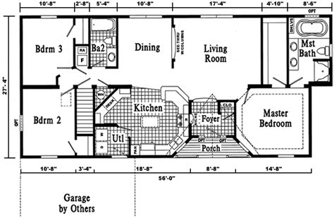 open ranch style home floor plan ranch floor plans