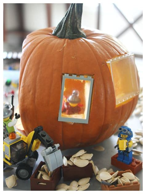 lego for lego pumpkin play small world and fall stem