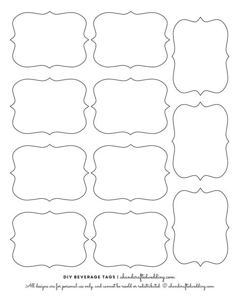 Free Downloadable Labels Template by 14 Label Shapes Template Images Label Shapes Clip