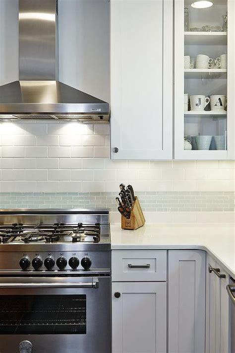 gray glass tile kitchen backsplash gray glass kitchen backsplash tiles transitional kitchen