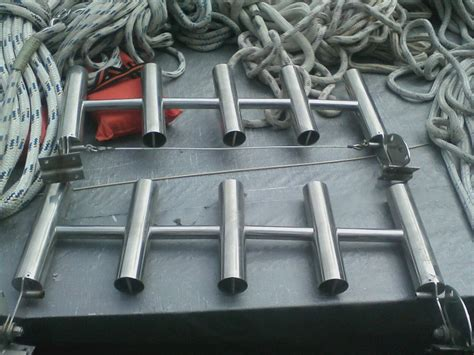 ss rod rack scuba tank holder  hull truth boating