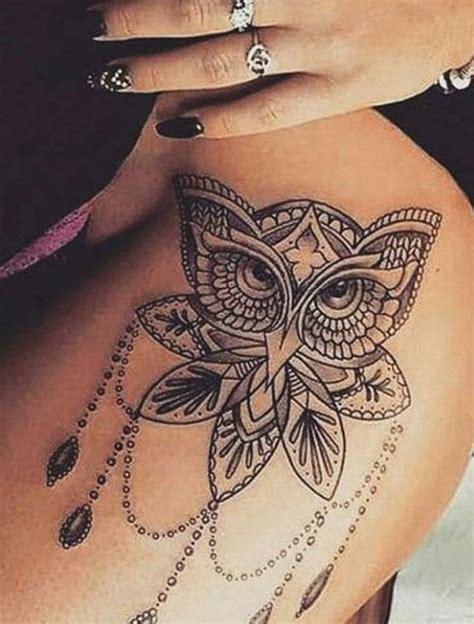 coolest owl tattoos ideas tattoos leg tattoos hip