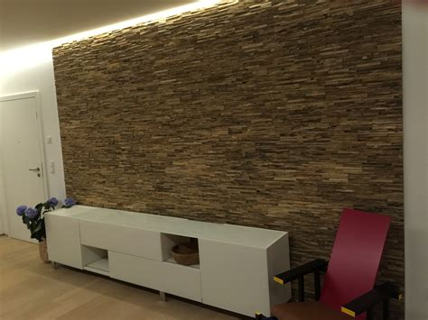 Holz Wandverkleidung Modern Braun Grau Bsholzdesign