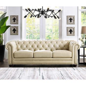 Leather Loveseats Costco by Leather Sofas Sectionals Costco