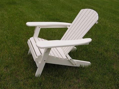 sold out deluxe white cedar adirondack folding chair